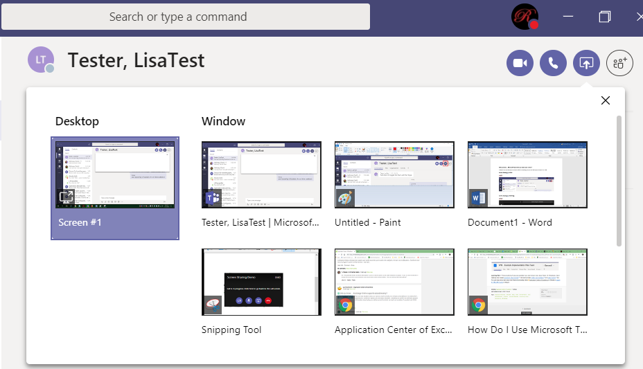 Did you know … Microsoft Teams lets you share your screen? – Lisa's